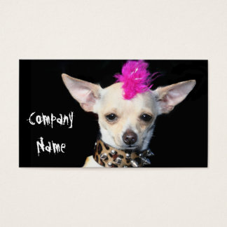 Punk Chihuahua Business Cards