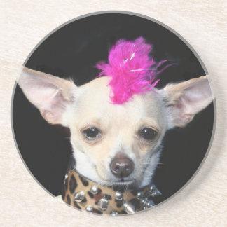 Punk Chihuahua coaster