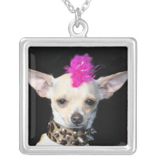 Punk Chihuahua necklace