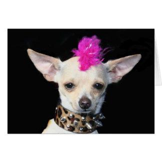 Punk Chihuahua Notecard Stationery Note Card