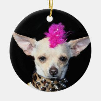 Punk Chihuahua ornament