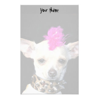 Punk Chihuahua Stationary Stationery