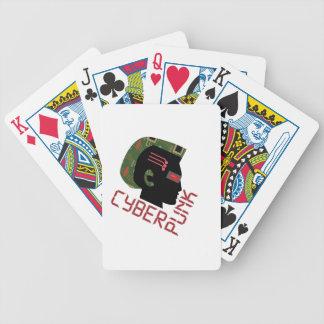 Punk cibernético baraja cartas de poker