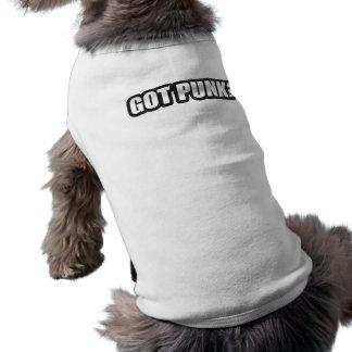 ¿PUNK CONSEGUIDO? camisetas de la música de punk r Camisa De Mascota