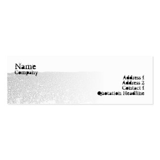 Punk Crowd - Skinny Double-Sided Mini Business Cards (Pack Of 20)