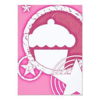 punk cupcake 5x7 paper invitation card
