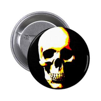 Punk de la roca del arte de la fantasía del cráneo pin redondo 5 cm