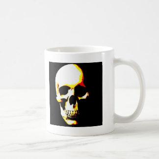 Punk de la roca del arte de la fantasía del cráneo taza