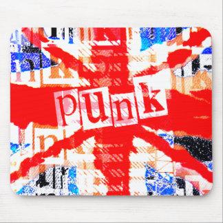 Punk de Union Jack Tapetes De Ratón