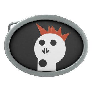 Punk del cráneo - hebilla del cinturón redonda - S Hebillas De Cinturon Ovales