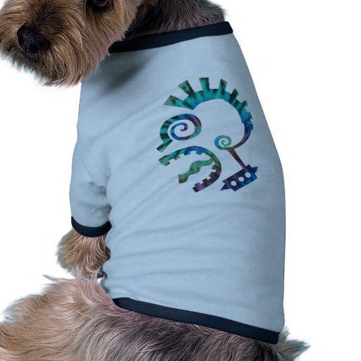 Punk del lazo del tinte camiseta con mangas para perro