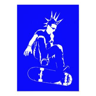 punk del monopatín invitación 12,7 x 17,8 cm
