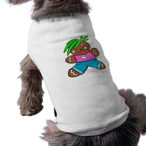Punk del pan de jengibre camiseta de perro
