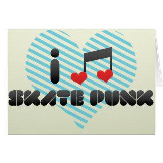 Punk del patín tarjeta de felicitación