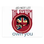 Punk del sistema de la anarquía de la cabeza del postales