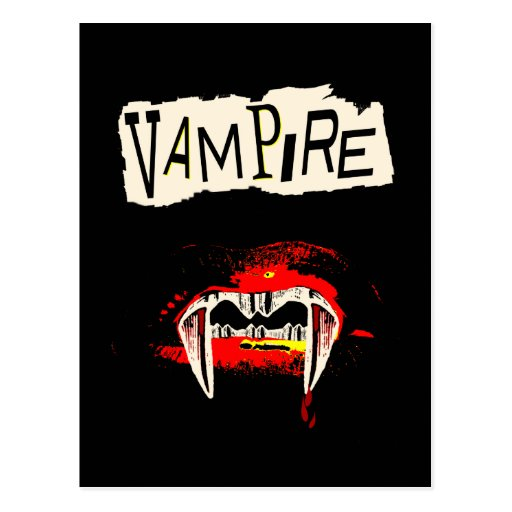 Punk del vampiro tarjeta postal