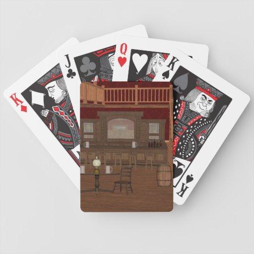 Punk del vapor del vintage los naipes del salón barajas de cartas