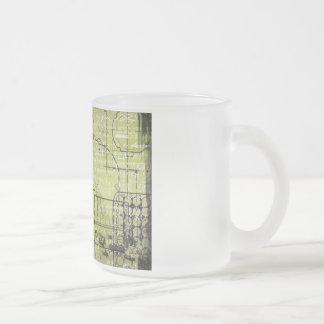 punk del vapor taza de cristal