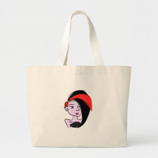 Punk Emo Girl by Chillee Wilson Large Tote Bag