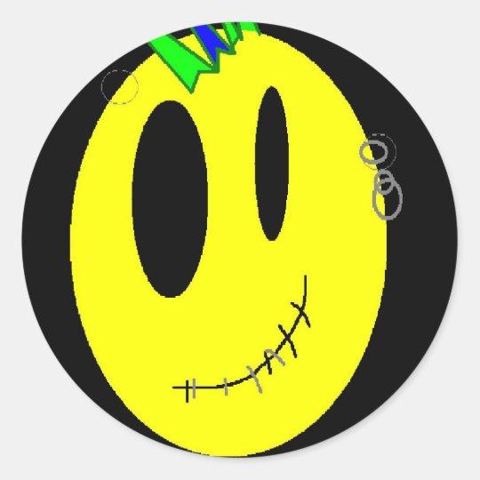 Punk Face Classic Round Sticker