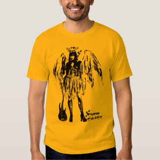 Punk Fairy band 80s style custom made color yellow Tee Shirt