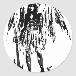 Punk Fairy clothes for adults and children Classic Round Sticker