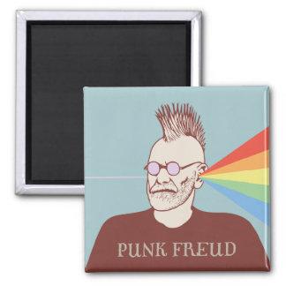 Punk Freud 2 Inch Square Magnet