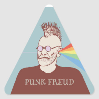Punk Freud Triangle Stickers