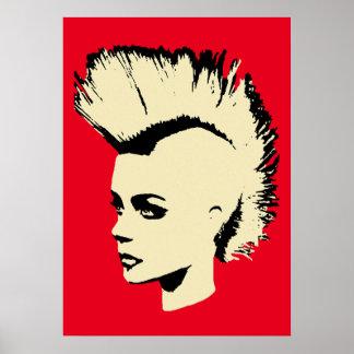 Punk Girl - bichrome print