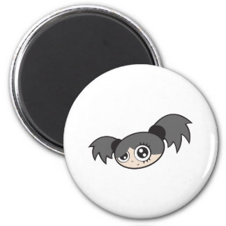 Punk Girl Black Fridge Magnets