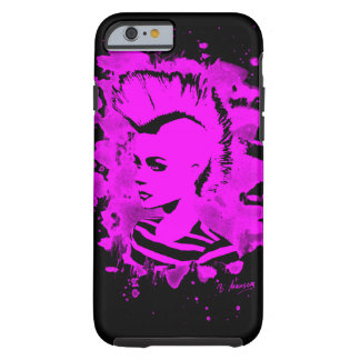 Punk Girl - bleached pink Tough iPhone 6 Case