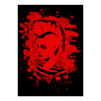 Punk Girl - bleached talk Poster