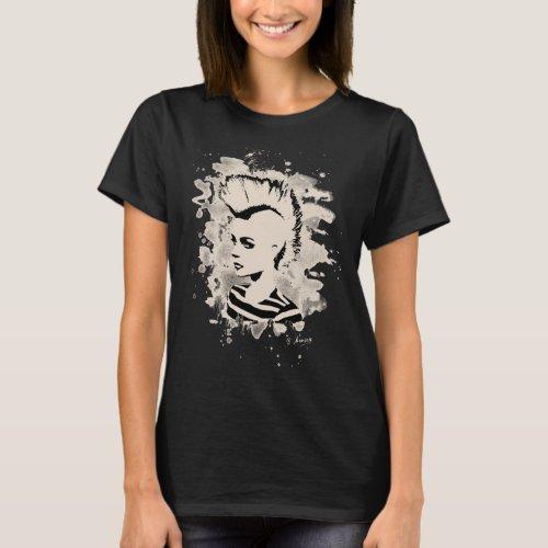 Punk Girl _ bleached white T_Shirt