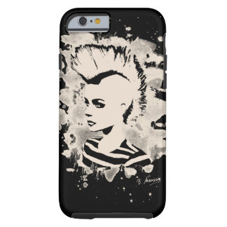 Punk Girl - bleached white Tough iPhone 6 Case
