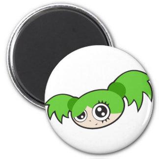 Punk Girl Green Magnet