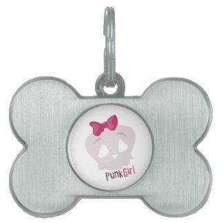 Punk Girl Pet ID Tag