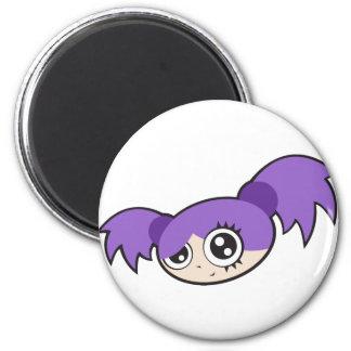 Punk Girl Purple Refrigerator Magnets