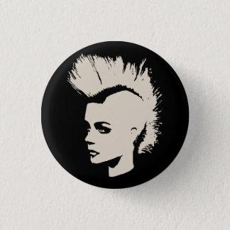 Punk Girl - university University of print - cream Pinback Button