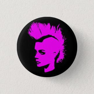 Punk Girl - university University of print - pink Pinback Button