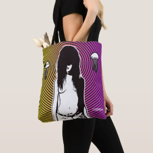 Punk Goth Creepy Girl Scary Psychedelic Seeker Tote Bag