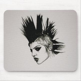 punk grrrrrl mouse pad