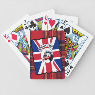 Punk guineafowl bicycle playing cards