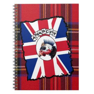 Punk guineafowl note book