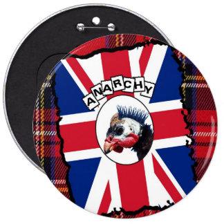 Punk guineafowl pinback button