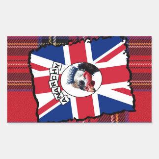 Punk guineafowl rectangular sticker