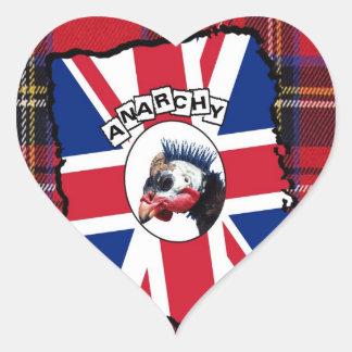 Punk guineafowl heart sticker
