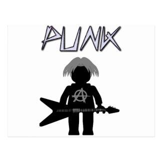 Punk Guitarist Minifig Postcard