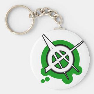punk guys girls ANARCHY PUNK ROCK music Basic Round Button Keychain