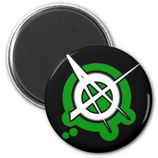 punk guys girls ANARCHY PUNK ROCK music 2 Inch Round Magnet