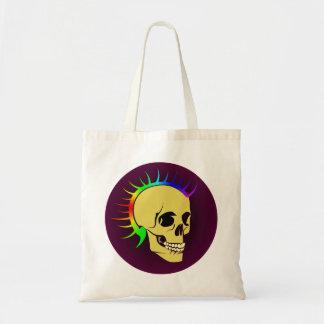 Punk head skull skull tote bag